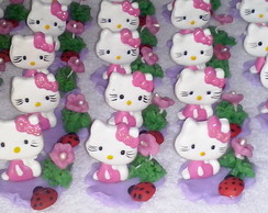 Hello Kitty aplique para potes e caixas