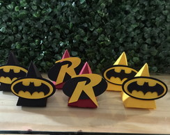 Caixa triangular Batman e Robin