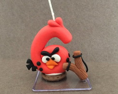 Vela decorada angry birds