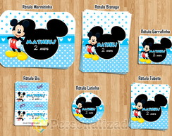 Kit Festa Digital Mickey Azul