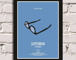 Poster com Moldura Superman Glass