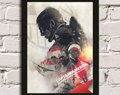 Poster com Moldura The Winter Soldier