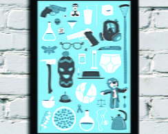 Poster com Moldura Things Breaking Bad