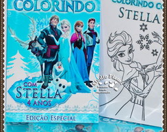 Revista de colorir Frozen