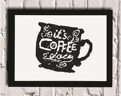 Poster com Moldura Coffee o' clock