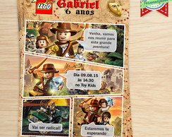 Convite Gibi Lego Indiana jones
