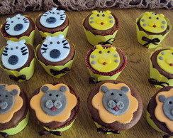 Mini cupcakes - Safari