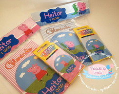 Kit colorir Peppa/George Pig
