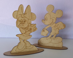 Kit com 5 Minnie e 5 Mickey MDF CRU