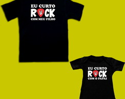 Kit Camiseta Eu Curto Rock