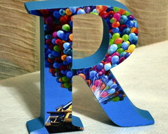 Letras Decorativas com papel