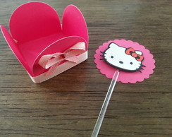Forminha + topper Hello kitty