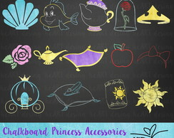 Kit Digital Chalkboard Princesas 2