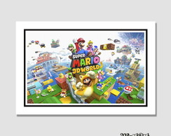 Quadro 60x40cm Cartoon - Super Mario