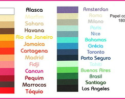 20 folhas Papel color plus