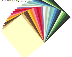 25 folhas Papel Color plus 180gr 30x30