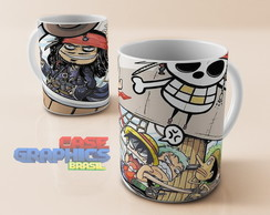 Caneca One Piece x Jack Sparrow