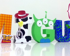 Letra 3D -Toy Story (personagens)