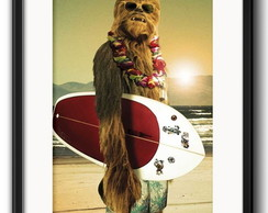 Quadro Chewbacca Surf Star Wars com Paspatur