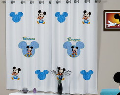 Cortina Infantil Mickey Baby
