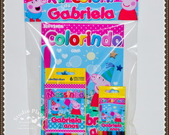 Kit colorir Peppa Pig e George Pig