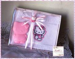 Hello Kitty - Toalha e sabonete
