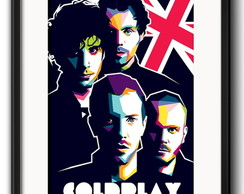 Quadro Coldplay Pop Art com Paspatur