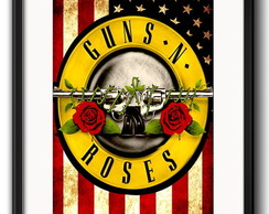 Quadro Exclusivo Guns Roses com Paspatur