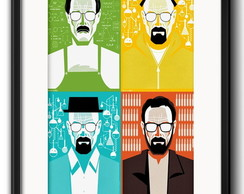 Quadro Breaking Bad Minimalista com Paspatur