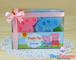 Kit Sabonete Peppa Pig e George Pig