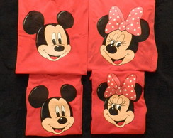 kit (4 pças)-Minnie e mickey s/nome