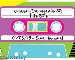 Save the date virtual - Anos 80