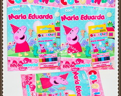 Kit colorir Peppa Pig e George