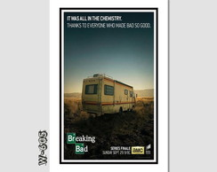 Quadro Breaking Bad Seriados Tv 60x40cm N7 Decoraçao Sala