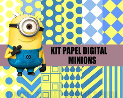 Kit papel digital Minions