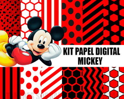 Kit papel digital Mickey