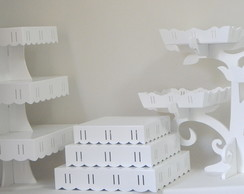 Kit Provencal 05 Pc Mdf Branco Passa Fit