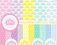 Papel Digital Coroa - Kit Coroa Delicate