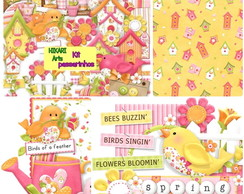 Kit Scrapbook Digital Passarinhos