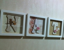 Quadros letras decoradas