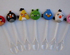 Mini Colheres Angry Birds