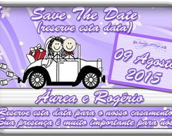 Imã Casamento - Save the Date 9x6