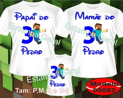 Kit 3Camisetas Personalizadas Mini Craft