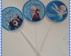 Toppers Personalizados Frozen