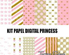 Kit papel digital Princesa