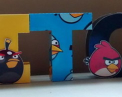 Letra 3D - Angry Birds