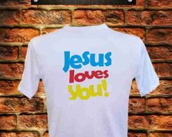Camiseta Jesus loves you
