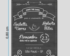 Placa Decorativa Save the Date Tipo Lousa