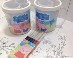 Kit Caneca e hidrocor Peppa