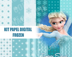 Kit papel digital Frozen